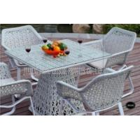 Buy cheap White Indoor / Outdoor Patio Furniture Patio Table And Chairs Set For Conversation product