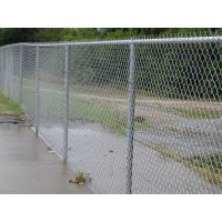 Quality Zinc aluminum alloy chain link fence with 366g zinc coating for sale