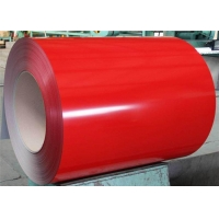 Quality 600mm 26 GA 201 Painted Steel Coil In Red Color for sale