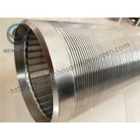 Quality Continuous Slot Johnson Screens Groundwater And Wells Wleded Rings End Connection for sale