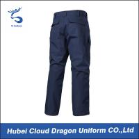 China Navy Blue Tactical Combat Pants / Army Fatigue Cargo Pants Custom Logo on sale