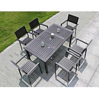 Buy Modern imitative wood chair Outdoor Garden furniture sets Coffe table poly wood at wholesale prices