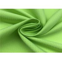 Quality Comfortableful 100% P Breathable Outdoor Fabric , Green Water Resistant Fabric for sale