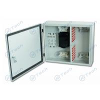 Quality White Color Optical Fiber Distribution Box Large Working Space With Plastic Plates for sale