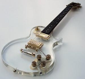 Galveston Clear Acrylic LP Electric Guitar