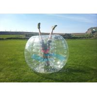 Quality Amusement Park Football Sports Inflatable Bubble Ball Game 1.7m diameter for sale