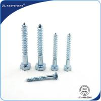 Quality DIN571 Zinc Coated, Carbon Steel, Full Thread Hex wood screw for sale