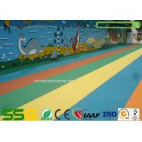 Quality Custom Colored EPDM Granulated Rubber Flooring Sports Court Mat Acid / Alkaline Resistance for sale