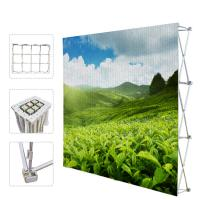 Quality Portable Trade Show Backdrop Stand Various Shapes Detachable Frame 250g Fabric for sale