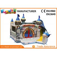 Buy cheap 0.55mm PVC Tarpaulin Dragon Bouncer House With Slide / Inflatable Bouncer Castle from wholesalers
