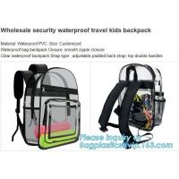 China High School Pvc Backpack Bag In Bag In America With Cosmetic Bag, Clear pvc backpack, clear plastic bags, clear backpack on sale