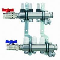Quality Brass Manifold for Water Separators and Underfloor Heating, Nickel-plated for sale
