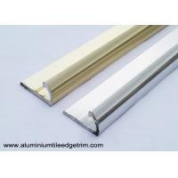 Buy cheap Semi Round Aluminium Tile Edge Trim Polished Light Golden And Silver from wholesalers