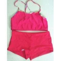 Simple Swimsuit for Girls+Children′s Cute Swimwear+Red Enthusiastic Swim Dress