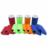 Quality Qualified promotional foldable beer sleeve neoprene beer Can Cooler Holder size:10cmc*13cm  Material is neoprene for sale