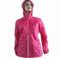 Quality Women's Waterproof Jacket, Customized Sizes are Accepted for sale
