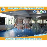 Buy cheap Transparent 1.5m Inflatable Hamster Footall Zorb Rolling Ball With Various Color Strings, Straps and Handles product