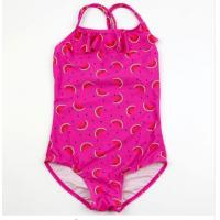 China 2018 New Model 3-10Year Old Girls One Pieces Swimsuit Red with Dots Pattern Kids Sling Swimwear on sale