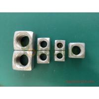 Quality Hot forging square nut 1 1/2'' big size with tapped thread for sale