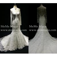 Buy Classic Muslim High Collar Long Sleeve Mermaid Wedding Dress Bridal Gown with Open Back BYB-14560 at wholesale prices