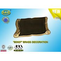 Buy cheap REF. BD027 Brass scroll tombstone decoration material copper alloy size 9*13 cm product