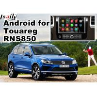 Quality GPS Android Navigation System For Car , Volkswagen Touareg RNS 850 8 Inch Youtube Waze Wifi for sale