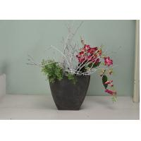 Quality Decorative Sturdy Square Plant Pots SGS Certification Built With Deep Root Zone for sale