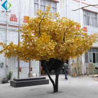 Silk Fabric Golden Ginkgo Tree 3.5m Height Customized Design for sale