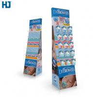 Quality CMYK Color Cardboard Display Shelves Customized Hooks Retail display  Baby Products cardboard display stand for sale