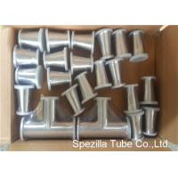 China TP316L Sanitary Valves And Fittings 1/2'' - 4'' Stainless Steel Reducing Tee Cross Ends on sale