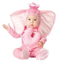 Quality Pink Elephant Newborn Girl Halloween Costumes Jumpsuit 0-24 Months for sale