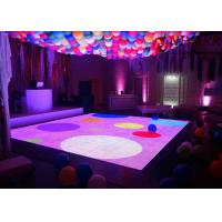 Quality Portable 3D Interactive LED Dance Floor Rental Disco Lighted Floor Panels for sale