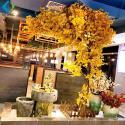 Artificial Ginkgo Biloba Tree , 2.5m Height Yellow Ginkgo Tree Customized Design for sale