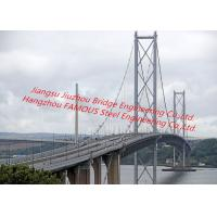China Concrete Deck Steel Truss Suspension Bridge Cable Stayed With Rock Anchor Pedestrians Vehicle Dual Support on sale