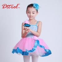 Quality Dttrol children elegant ballet performance costumes with ribbon and barette D032003 for sale