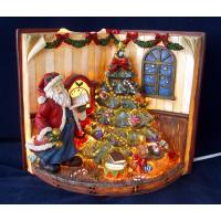 China Casting Epoxy Resin Crafts Praying Santa Claus Statues for Home Decor on Christmas on sale