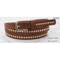 Buy Polished Patterns Womens Fashion Belts With Gold Buckle And Square Metal Studs 1.85cm Width at wholesale prices