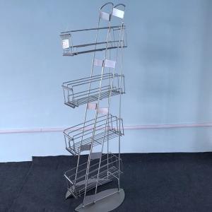 China 4 Layers Floor Stand Metal Display Rack Powder Coating Finishing 40GP on sale