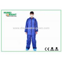 China Nonwoven Flame Retardant Disposable Coveralls For Asbestos Removal on sale