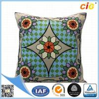 Quality Polyester Or Cotton Embroidered Decorative Throw Pillows for Bed Red Grey Blue Green for sale