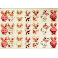 Custom Monogram Chocolate Transfer Sheets Cake Decoration Cartoon Rabbit