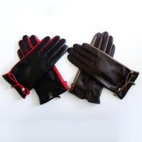 Classic Womens Soft Leather Gloves Plain Style Customized Size For Spring / Autumn