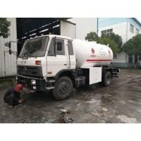 Quality 5MT Bobtail Propane Truck , Dongfeng Mobile LPG Bobtail Truck 10000 Liters for sale