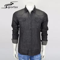 Quality Casual Camping Washed Denim Shirt 100% Cotton Premium Materials XS - 2XL for sale