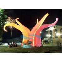Quality Durable Led Inflatable Stage Decoration , 210D Ripstop Fabric Standing Inflatable for sale