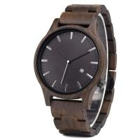 Quality Wooden Luxury Men 'S Quartz Date Watch Big Dial 12 Months Warranty for sale