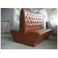 Buy cheap Durable Wooden Restaurant Booth Furniture With Brown Button - Tufted Back product