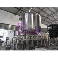Quality Stainless Steel Juice Hot Filling Machine , Silver Gray Monoblock Filling Machine for sale