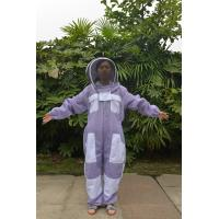 China Purple Color Ventilated Bee Protective Clothing Hat Taken Off Seperately on sale