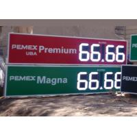 Quality 12 Inch Outdoor Electronic digital gas price signs For Oil Stations , long Lifetime for sale
